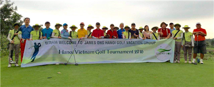 Welcome To James Ong Golf Club From Singapore in Hanoi  Golf Tournament 2016